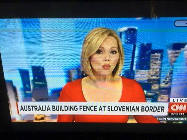 Australia building fence at Slovenia border
